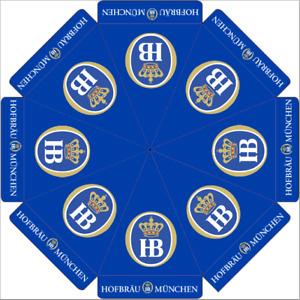 "HOFBRAUHAUS ""HB"" HOFBRAU MANCHEN 9 ft BEER UMBRELLA MARKET PATIO STYLE HUGE NEW"