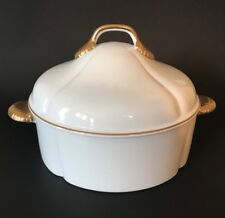 Coquille D'Or By Georges Briard Large Lidded Casserole Gilded MCM Design