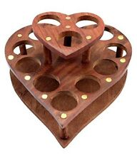 Wooden Handcrafted Designer12 Lipstick Display Holder Stand For Rakhi Gift