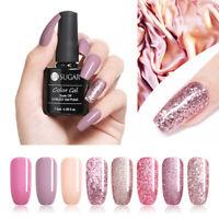 UR SUGAR 7.5ml Rose Gold Glitter Soak Off UV Gel  Pink Nail Art Gel Polish
