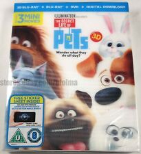 THE SECRET LIFE OF PETS (2016) Brand New 3D + 2D Blu-ray Movie Illumination