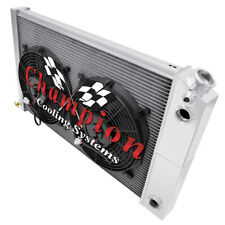 "3 Row Perf Champion Radiator 26"",12"" Fans,1.25,1.50-1978-1987 El Camino LS Swap"