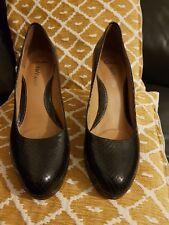 Clarks softwear Anika Kendra Negro Zapatos Taco Alto UK 8
