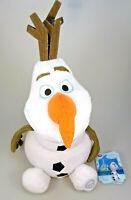Olaf Frozen Disney Store Plüsch Figur mit Schild ca. 40 cm sitzend