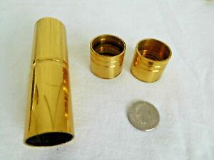 "CHOICE Solid BRASS BARREL BRACKET for 3/4"" tube rod or SPLICE Kirsch NOS vintage"