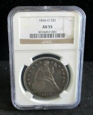 1846-O Seated Liberty Silver Dollar - NGC AU 55 - 001   ENN COINS