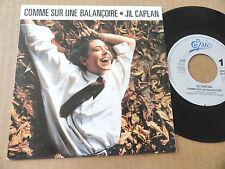 """DISQUE 45T DE JIL CAPLAN  """" COMME SUR UNE BALANCOIRE """""""