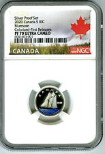 2020 CANADA 10 CENT SILVER COLORED PROOF NGC PF70 UCAM DIME FIRST RELEASES RARE