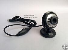 Quantum PC Web Cam 25 MP USB 6 LED Lights Night Vision Camera Mic Chat QHM 495LM