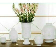 Porcelain Table Lady Face Head Planter Vase for Flower Ceramic Decoration Home