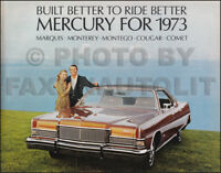 1973 Mercury Sales Catalog XR7 Cougar MX Montego Marquis Monterey Comet Brougham