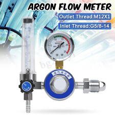 G5/8 Argon CO2 Pressure Gas Mig Tig Flow Meter Regulator Welding Gauge Welder