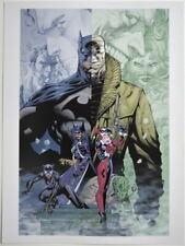 BATMAN HUSH Print Artist Jim Lee Double Sided Printing Harley Huntress Catwoman
