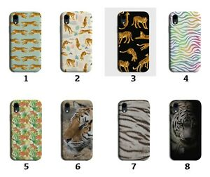 Tiger Pattern Phone Case Cover Tigers Rainbow Colourful Kids Print Stripes 8087