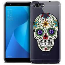 """Coque Crystal Gel Pour Asus Zenfone Max Plus (M1) ZB570TL (5.7"""") Souple Skull Ma"""