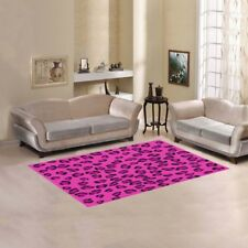 """Pink Leopard Area Rug size 60""""x 39"""""""