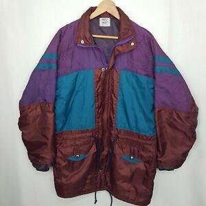 """JACO""""S JACKET Vintage? Purple Maroon Long Parka /Windbreaker Size L/XL"""