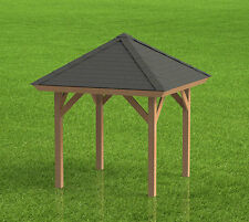 8' x 8' Square Gazebo with open sides Building Plans  - Perfect for Hot Tubs
