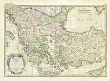 1783 Janvier Map of Greece, Turkey, Macedonia and the Balkans