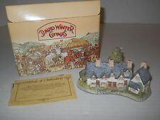 "4"" David Winter Cottages 1985 Craftsman Cottages w/Coa + Box Hand Made England"