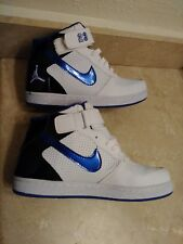 Mens Used Basketball Black Blue White 23 Ankle Shoes Size 9.5 Jumping Man Jump