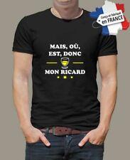 t-shirt personnalisé humour mais ou est donc mon ricard apéro  P066