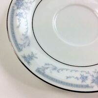Blue Whisper SHEFFIELD CHINA Floral Saucer Plate Silver 6 inches diameter USED