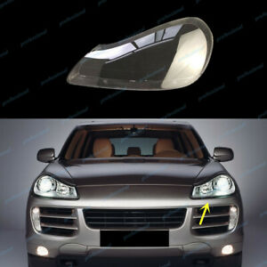 Left Side Headlight Cover +Sealant Glue Replace For Porsche Cayenne 2008~2010
