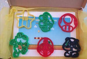 Super Mario cookie cutters biscuit cutter fondant cutter Luigi Yoshi star