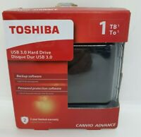 Toshiba 1TB USB 3.0 HDD - Backup Software + Password Protection Software