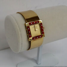 Jaeger LeCoultre MidCentury Masterpiece 18K Gold Coral Diamond mens Unisex Watch