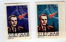 North Viet Nam Sc 174-5 NH issue of 1961 - Russian Space - Titov - Perf & Imperf