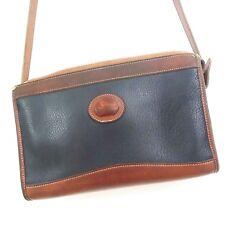 Dooney & Bourke Crossbody Handbag Pebble All Weather Leather Black Brown Gold C2