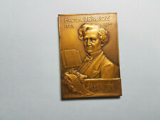 Plaquette commemorating composer  Hector Berlioz, by G. Dupre