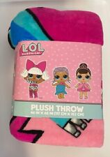 New L.O.L Surprise! Silky Plush Throw 46in x 60in  Super Comfy & Soft  LOL