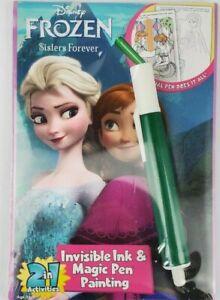 Disney Frozen Sisters Forever Magic Pen Ink Activity Book kids games activities