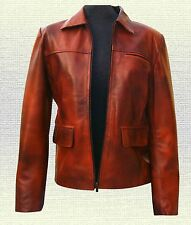 Hunger Games Katniss Everdeen Handmade  Leather Jacket Brown Black all New Sizes