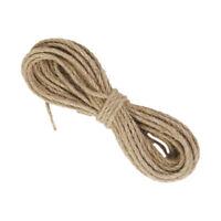 10m Natural Hemp cord Jute cord Sisal rope 3mm cord sack X4F7