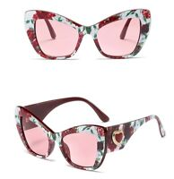 women sunglasses with flowers cat eye