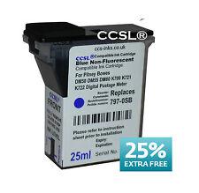 6 Pack Pitney Bowes Blue Compatible Ink DM50 DM55 DM60 K700 K721 K722 Franking