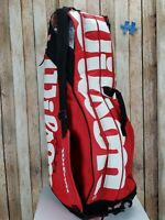 Wilson Tour ThermoGuard Tennis Bag - holds 6 Racquets Red
