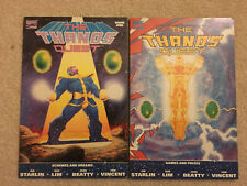 Thanos Quest 1(1st print) NM and 2 (2nd print) both (VF/NM)