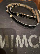 Mimco black patent leather pearl double wrap bracelet NEW