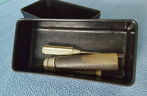 VINTAGE NECCHI SEWING MACHINE TOOLS IN CASE - Screwdrivers & Oil bottle w/Oil
