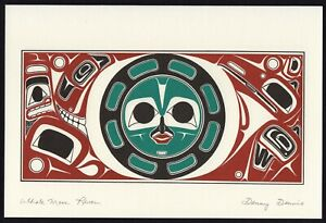 """New/Sealed Pacific Northwest """"Whale Moon Raven"""" Art 9""""x 6"""" Print by Danny Dennis"""