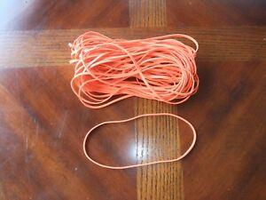 """50- Large Orange Rubber Bands,7"""" Fits 13 Gal Waste Trash & Shredder Can Liner 10"""
