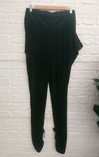 Karen Millen High Waisted Harem Style Black Tux Trousers Size 10 Silky Tapered