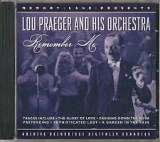 C.D.MUSIC  D886   LOU PRAEGER AND HIS ORCHESTRA :  REMEMBER ME  CD