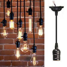 E27 Retro Vintage Edison Pendant Lighting Bulb Lamp Holder Base Socket Black