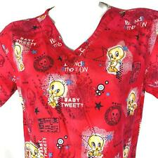 Tweety Bird Baby Tweety Blonde Ambition Small Scrub Top No Size Tag